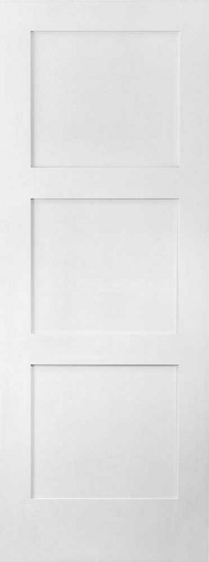 886 3 equal panel shaker active doors - Interior shaker doors panel ...